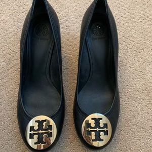 Tory Burch Sally Leather Wedges